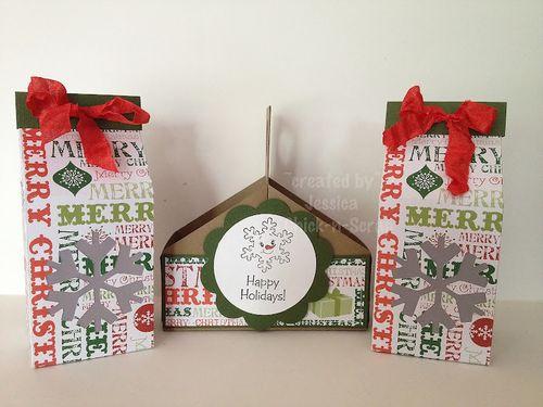 Happy Holidays  Jessica Esch - Christmas Milk Cartons