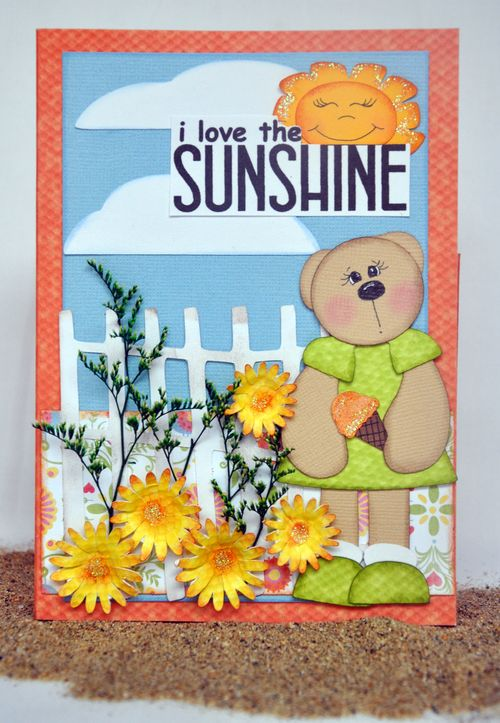 I love sunshine  Leslie Foley - One spring day and Greeting card folder