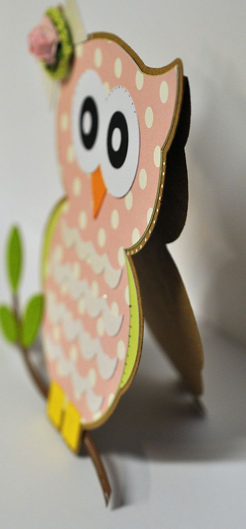 The Cutting Cafe': OWL SHAPED CARD SET......TEMPLATE ...