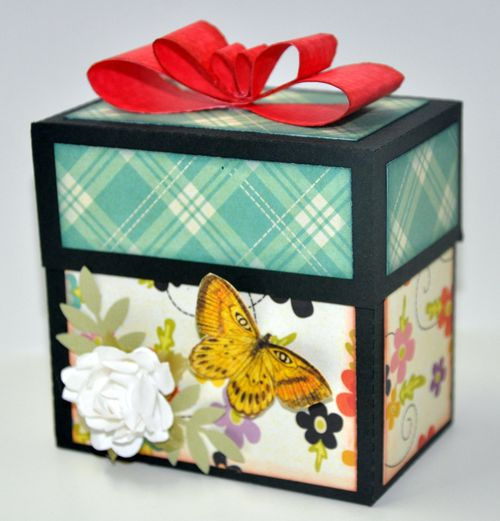 Ribbon box  Leslie Foley - bow tie ribbon template and divider box with handles