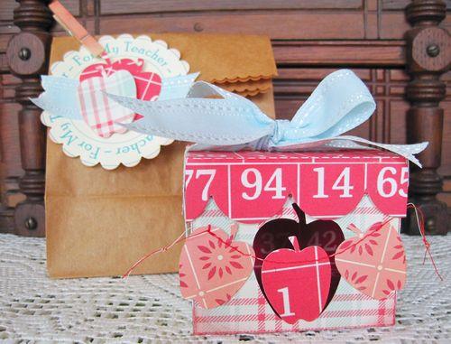 For My Teacher   Lori Hairston - Apple treat box