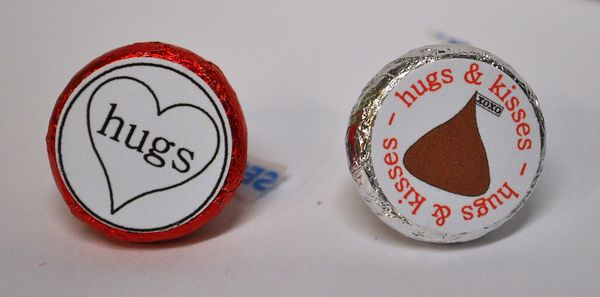 The Cutting Cafe Hershey Kisses Valentine Bottoms Printable Stamps