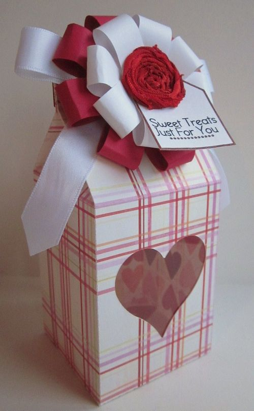 Sweet Treats just for you  Jessica - Assorted shapes milk cartons and loop loopy bow flower