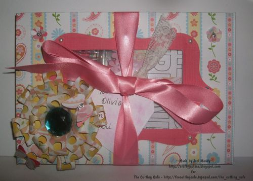 For Olivia  Jeri Moody - Loopy Loopy bow flower and Color me in sentiments and 8 by 5 inch box with dividers