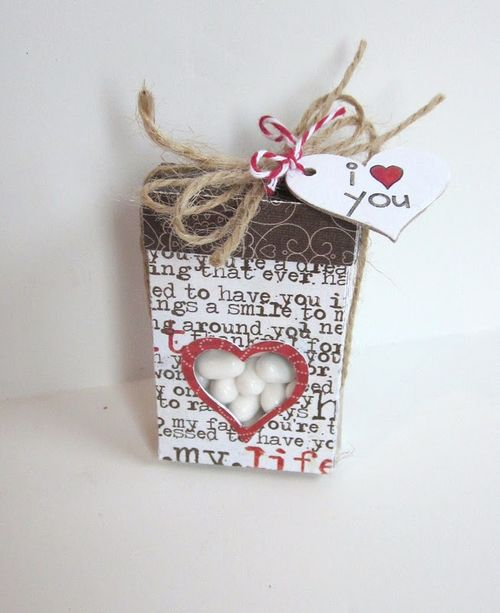 I heart you  Jessica Echo - Heart tic tac box