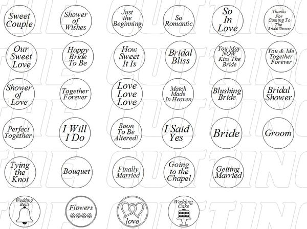 the cutting cafe wedding and bridal shower hershey kiss bottomsprintable stamps