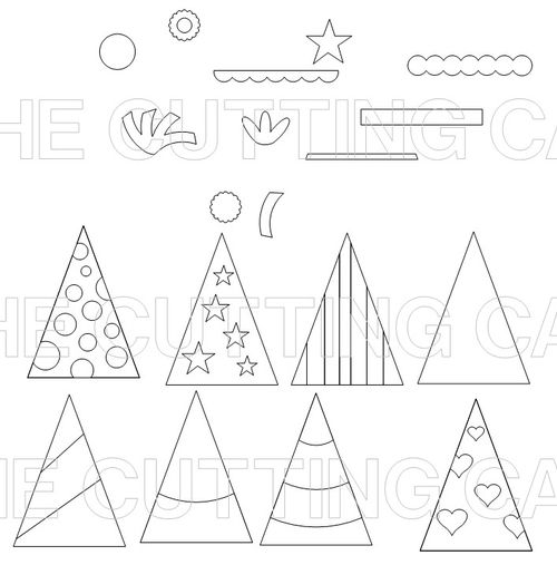 The Cutting Cafe PARTY HATS – Party Hat Template