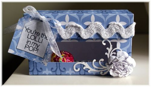 You're the LOLLI.... Iris - Lollipop sentiment candy set and Hershey kiss window box
