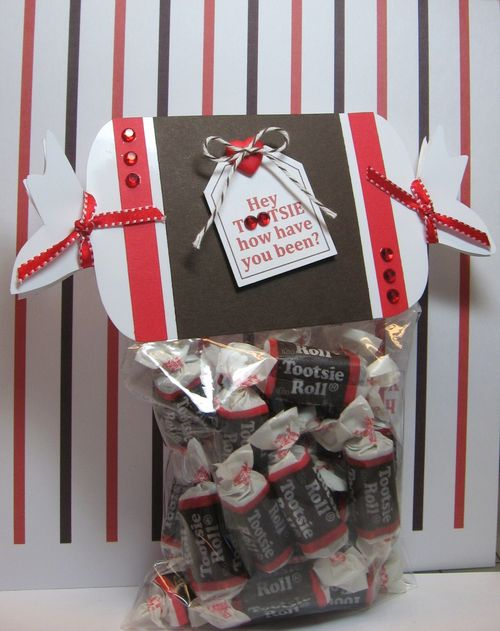 Hey Tootsie  Paula Riley - Candy shaped candy, Tootsie Roll candy sentiment set