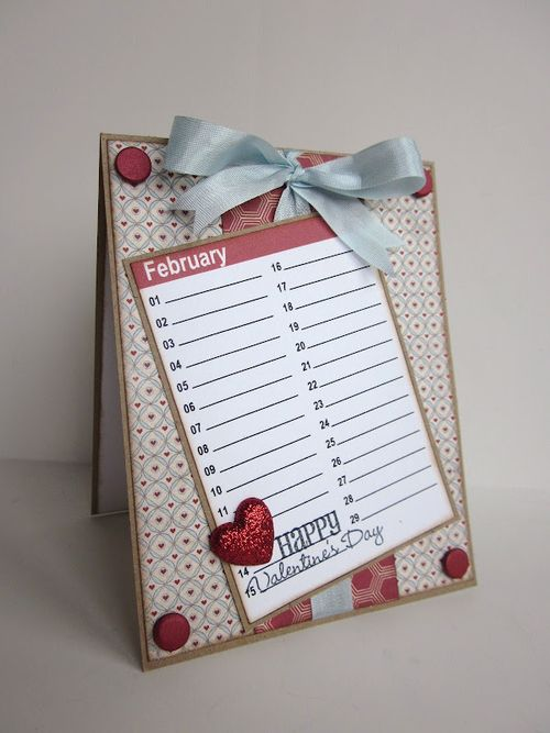 February 14  Jessica Esch - Mini colored calendar cards