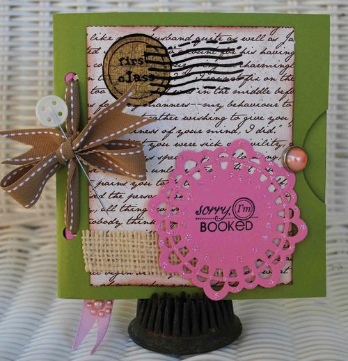 SORRY IM BOOKED  Amber Goble - MINI COLORED CALENDAR CARDS