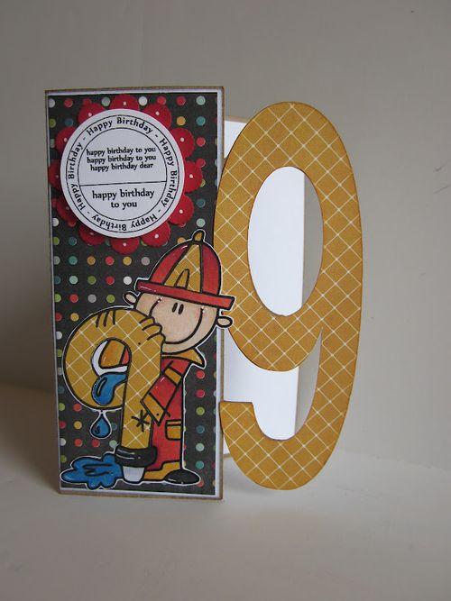 9 birthday  Jessica Esch - birthday tags and 9 shaped card set