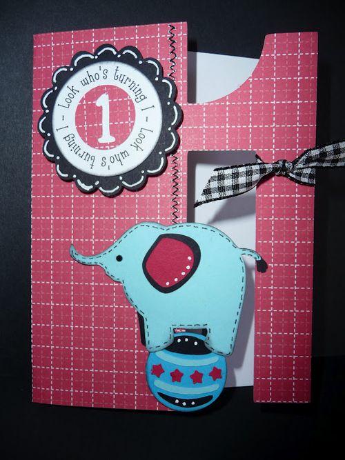 Look who's turning 1  Jeri Thomas - 1 shaped card set