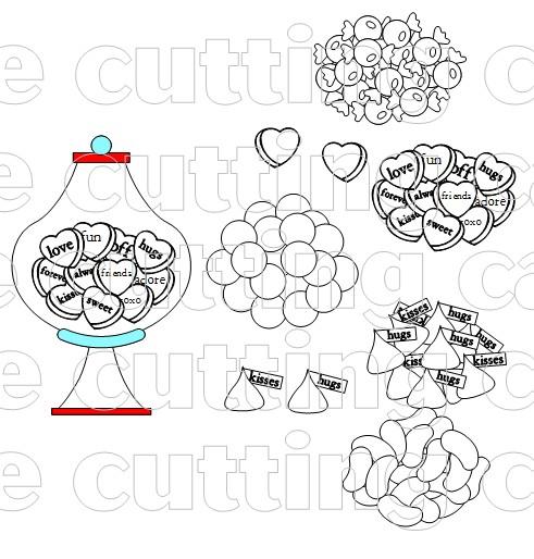 Candy jar shaped card