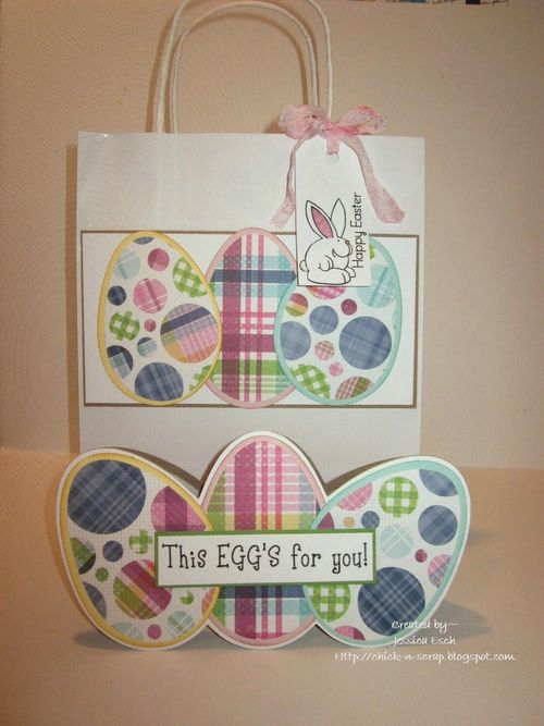 This Eggs for you   Jessica Esch - Egg Shaped Card