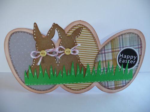 Happy Easter - Jeri Thomas - Egg shaped card