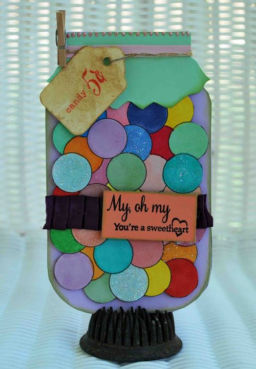 My oh my  Amber Goble - Jar shaped card