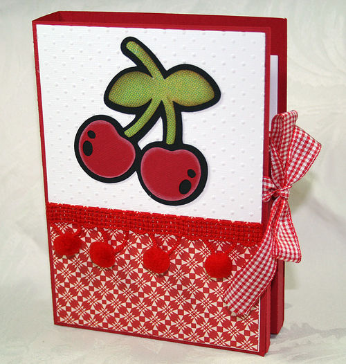 Card folder and fruit stamps