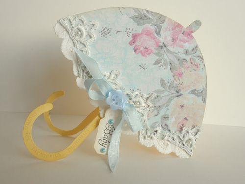 Baby Invite set  Rebekkah - Umbrella shaped card