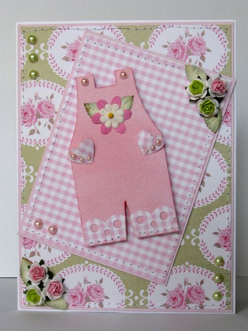 Overalls  Lilia - Overall shaped card