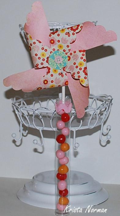 Pinwheel Candy holder  Krista Norman - Pinwheel sentiment set
