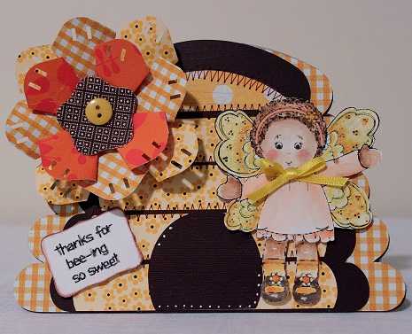Thanks for bee-ing so sweet  Penny Shurberg - Beehive shaped card and Everyday ruby j.