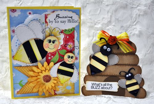 Whats all the buzz about  Leslie Foley - Beehive shaped card