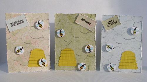 BUZZ  Liliya Rytsar - Beehive shaped card