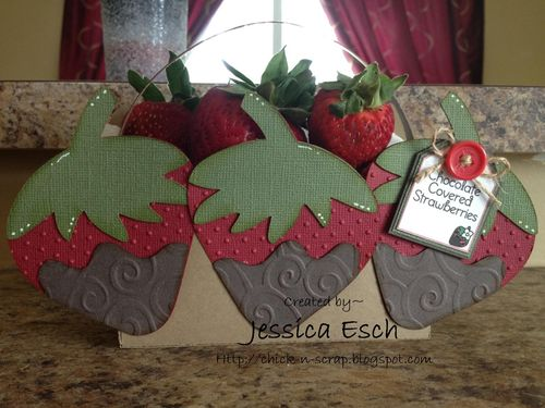 Chocolate covered strawberries  Jessica Esch - Strawberry treat box