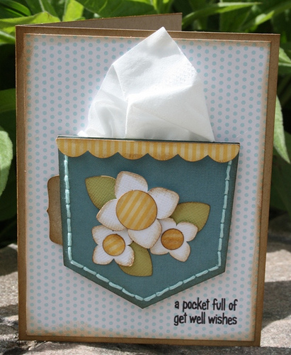 A pocket full of get well wishes  Carolyn Wolff - Pocket shaped card