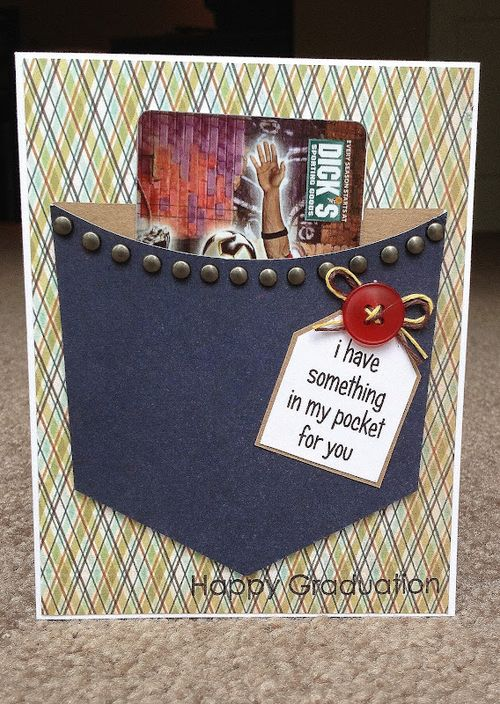 I have something in my pocket for you   Jessica Esch - Pocket shaped card