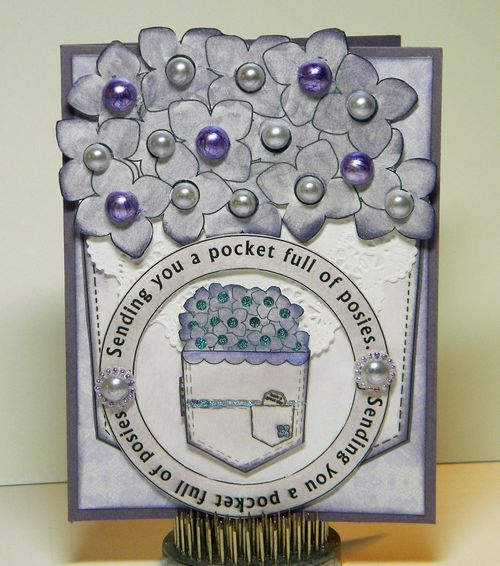 Sending you a pocket full of posies  Kimberly Morrow - Sending you a pocket full of wishes and pocket shaped card