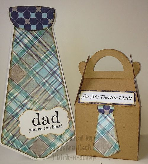 Dad your're the best Jessica Esch - Shirt and tie shaped card and For my Tie-rific Dad set