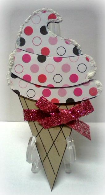 Ice cream cone Jovita Torres - Sweet stuff shaped card set