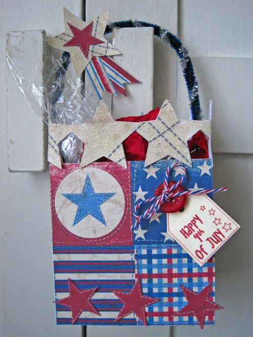 Happy 4th of July  Lori Hairston - Star box template