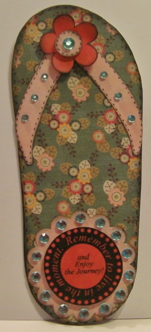 Remember  Rhonda Zmikly - flip flop shaped card