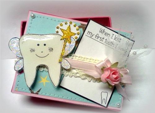 Fairy box Jovita Torres - Tooth shaped card set