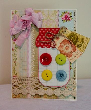 Mason Jar  Penny Shurberg - Jar shaped cards