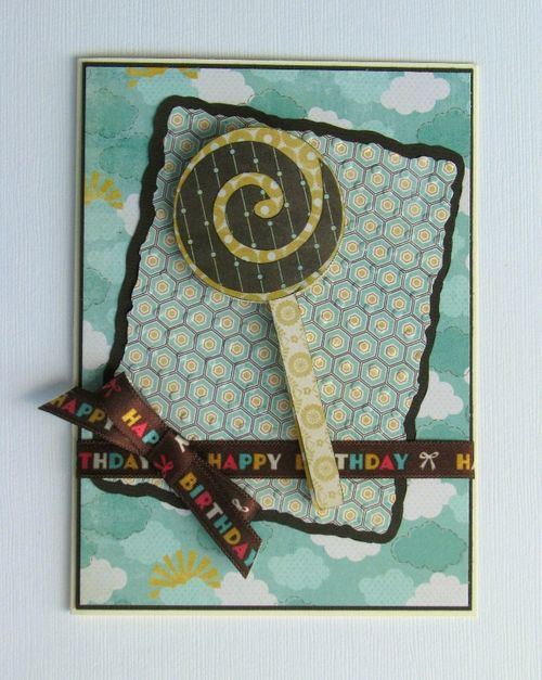Happy Birthday  Liliya Rytsar - Sweet stuff shaped card set