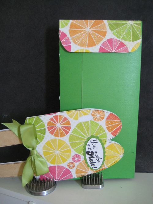 You make me MELT  Lezlye Lauterbach - Sweet stuff shaped card set