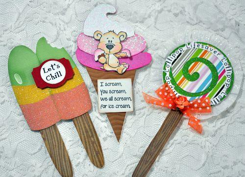 Swee stuff shaped card set  Leslie Foley - Sweet stuff shaped card set