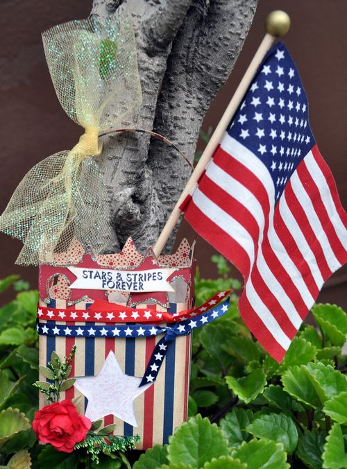 Stars & Stripes FOREVER Leslie Foley - Star Box and Independence day sentiments
