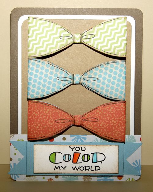 You color my world  Karen Howard - Bow tie ribbon template