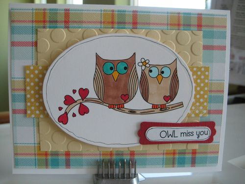 Owl miss you  Lezlye Lauterbach - fun with owls