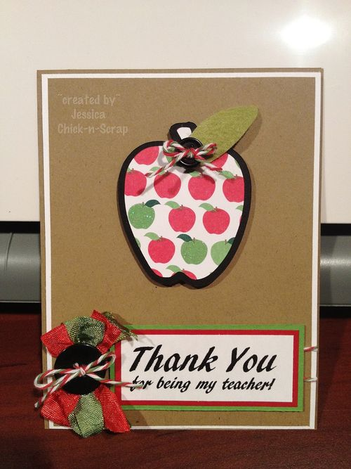 Thank you for being my teacher   Jessica Esch - Apple box and All about school