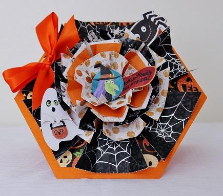 Halloween  Penny Shurberg - Hexagon shaped card set