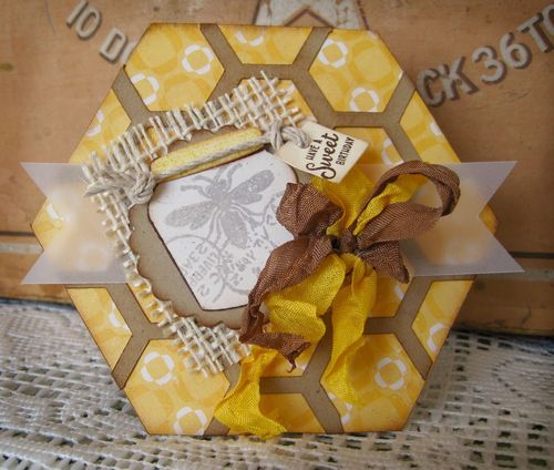 Have a sweet birthday  Lori Hairston - Hexagon shaped card
