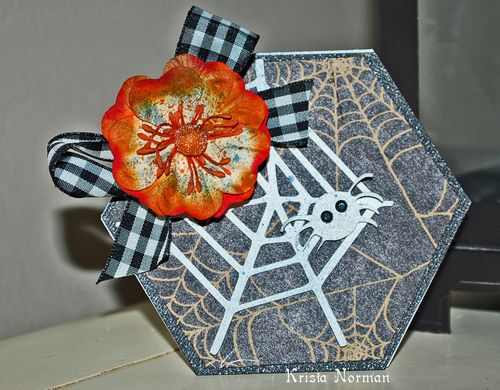 Spider web  Krista Norman - Hexagon shaped card