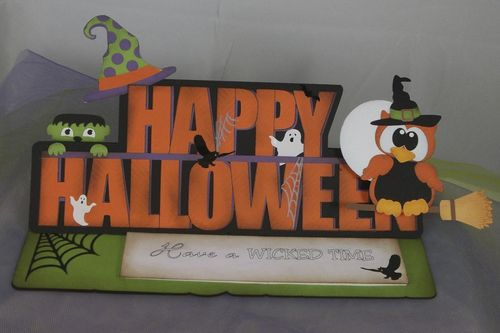 Happy Halloween  Doris Molina - Happy Halloween word shaped card