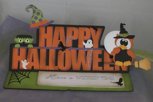 Happy Halloween  Doris Molina - Happy Halloween word shaped card